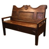 Antique Country French Chestnut Bench