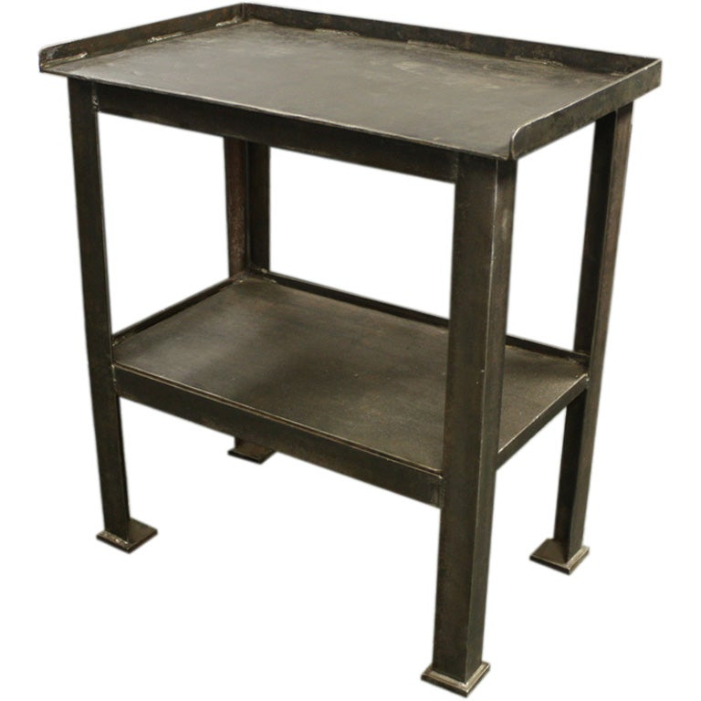 French industrial 33 widetall steel table at 1stdibs - Archives departementales 33 tables decennales ...