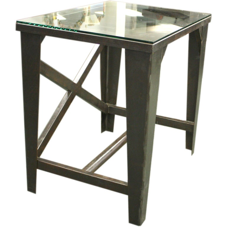 1930 S French Industrial Small Steel Table Desk At 1stdibs