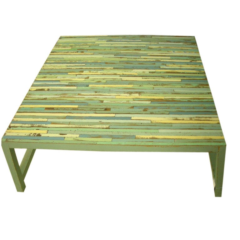 Large Multi Colored Coffee Table At 1stdibs