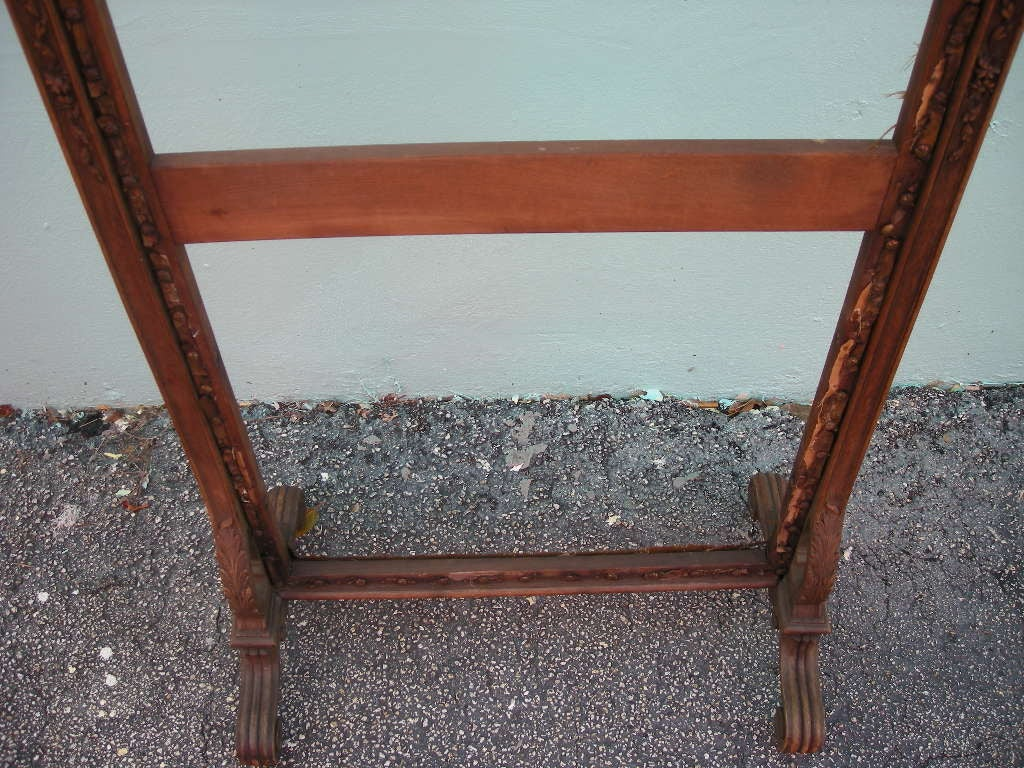antique carved wooden fire screen frame at 1stdibs