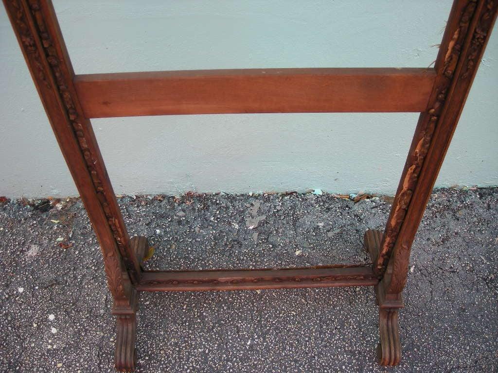 antique carved wooden fire screen frame at 1stdibs. Black Bedroom Furniture Sets. Home Design Ideas
