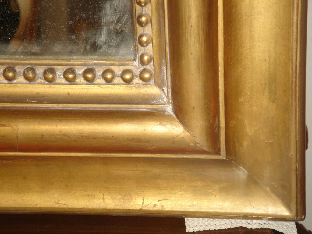 Large louis philippe period gilded mantel mirror at 1stdibs for Mantel mirrors