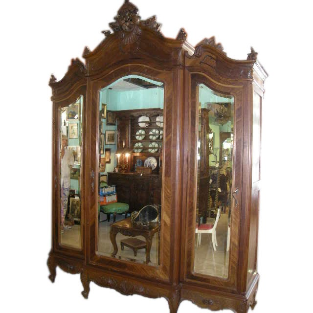louis xv style french armoire at 1stdibs. Black Bedroom Furniture Sets. Home Design Ideas
