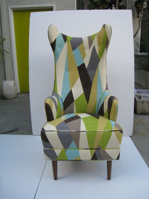 Pair of Downtown Classics Collection Milano Chairs.  Walnut Legs. Available in Custom Finishes. COM 6 yards