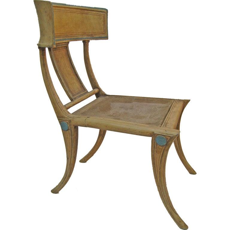Cast Metal Klismos Chair at 1stdibs