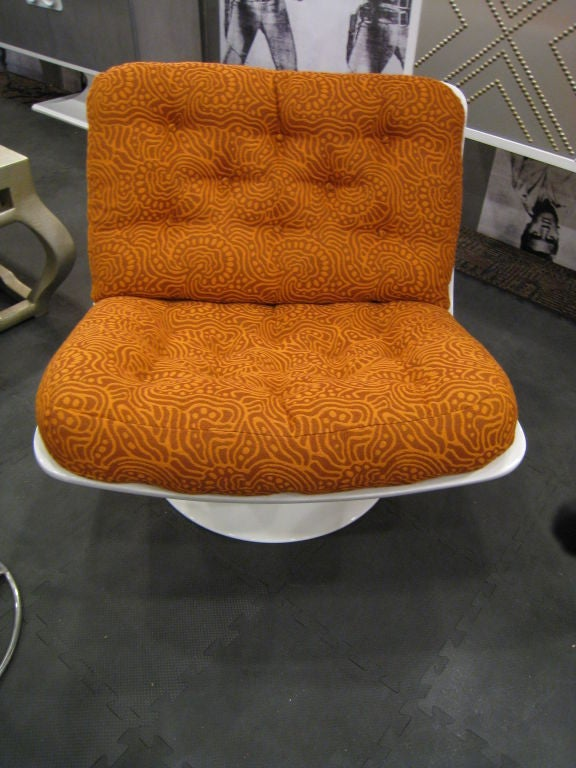 Steel Pair of Geoffrey Harcourt Swivel Lounge Chairs for Artifort