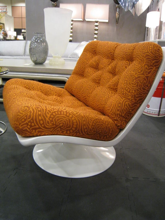 Mid-20th Century Pair of Geoffrey Harcourt Swivel Lounge Chairs for Artifort