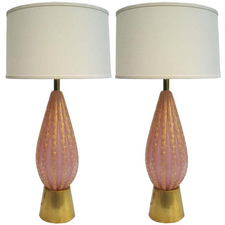 Pair of Large Fratelli Toso Table Lamps