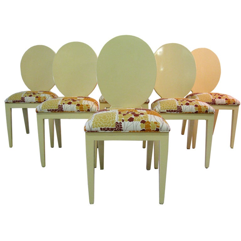 """Set of  Six """" Louis """"Chairs  by  A. Rudin"""
