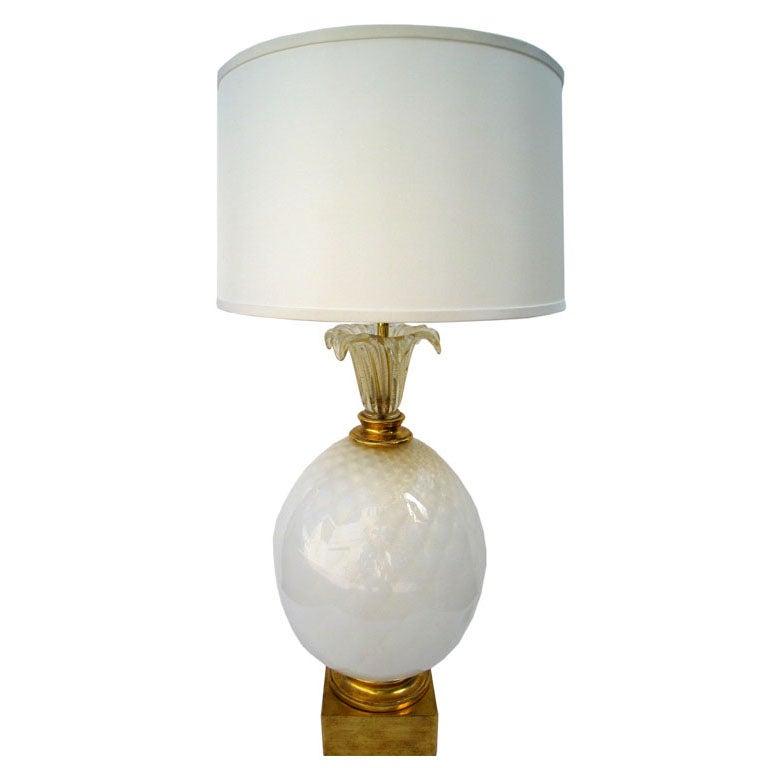 Murano Seguso Pinapple Lamp