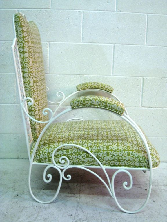 Iron Pair of  Large French Wire Garden Chairs For Sale