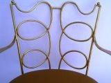 Arturo Pani Gilt over Iron Hand Forged Chair image 3