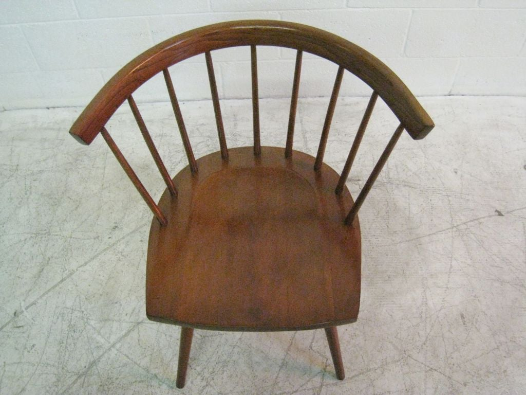 Pair of George Nakashima for Knoll Dining Chairs at 1stdibs