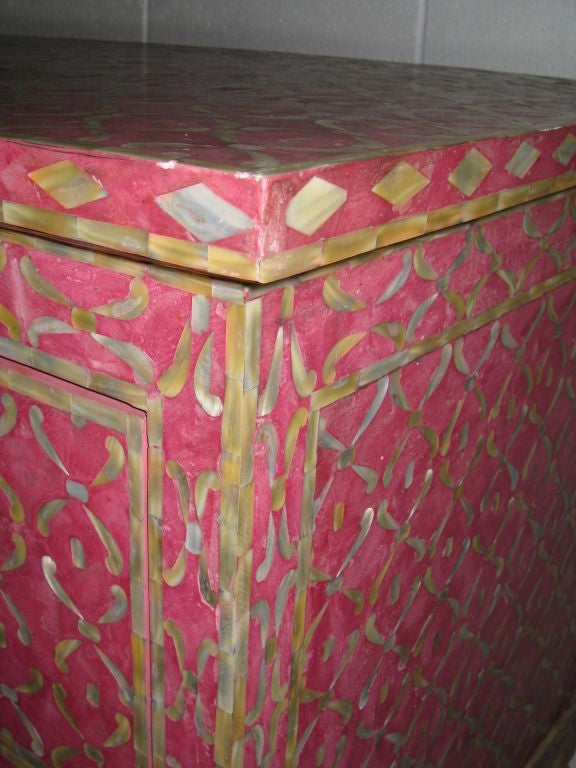 Mother of Pearl and Resin Cabinet In Excellent Condition In Los Angeles, CA
