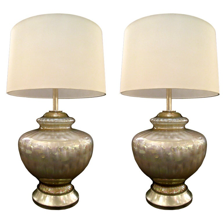 pair of murano opalescent table lamps at 1stdibs