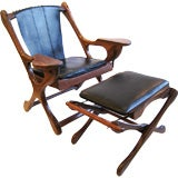 Don Shoemaker Studio Rosewood Lounge Chair and Ottoman
