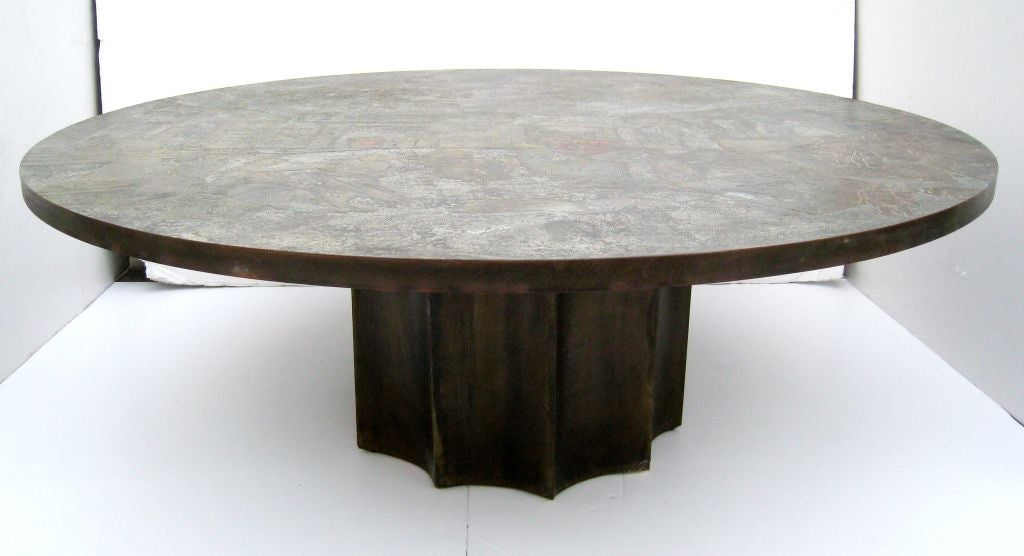 Unusual philip laverne cocktail table at 1stdibs for Unusual cocktail tables