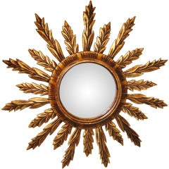 Spanish Gilt Over Wood Mirror
