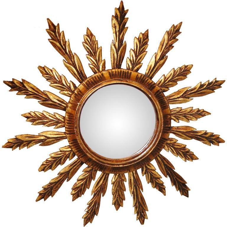 Spanish Gilt Over Wood Mirror
