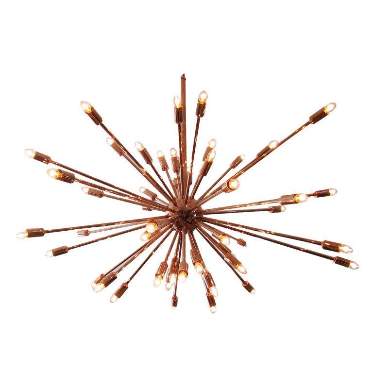 Downtown Classics Collection Sputnik Chandelier In Copper