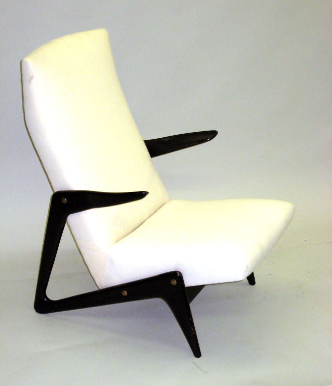 Important Pair of Belgian Mid-Century Modern Lounge Chairs by Alfred Hendrickx 3
