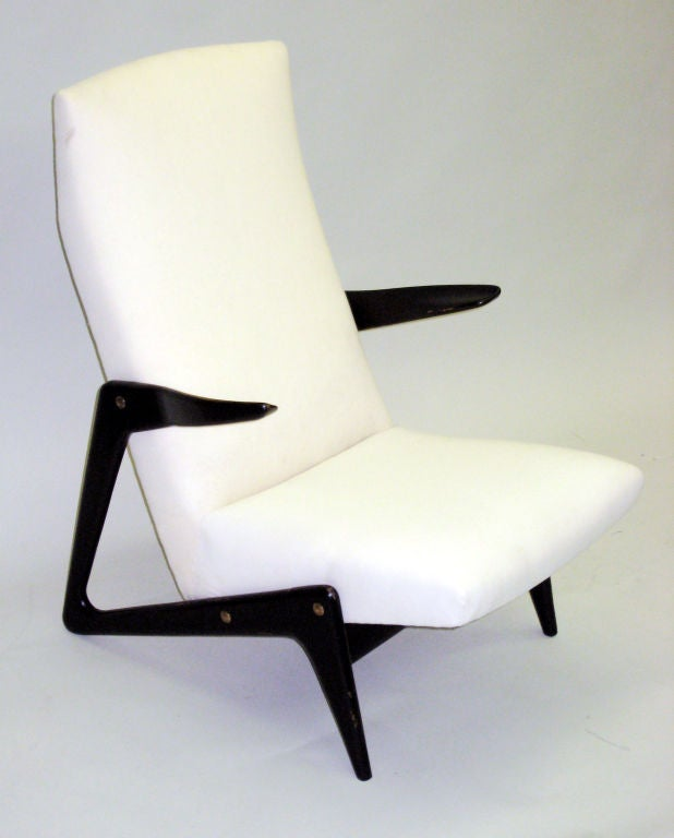 Important Pair of Belgian Mid-Century Modern Lounge Chairs by Alfred Hendrickx 2