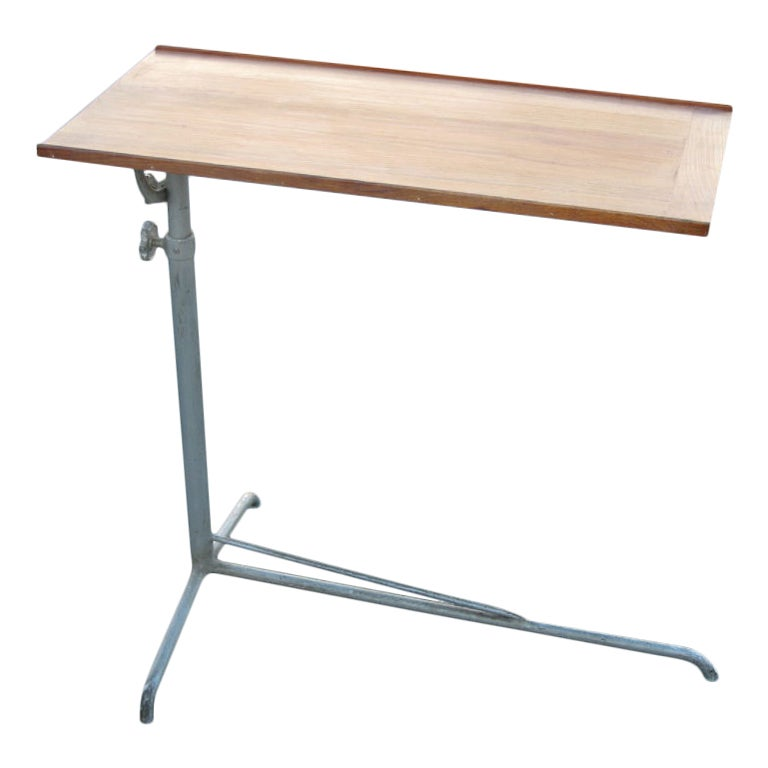 Swiss Mid-Century Modern Steel and Cherry Console or Drafting Table by Embru