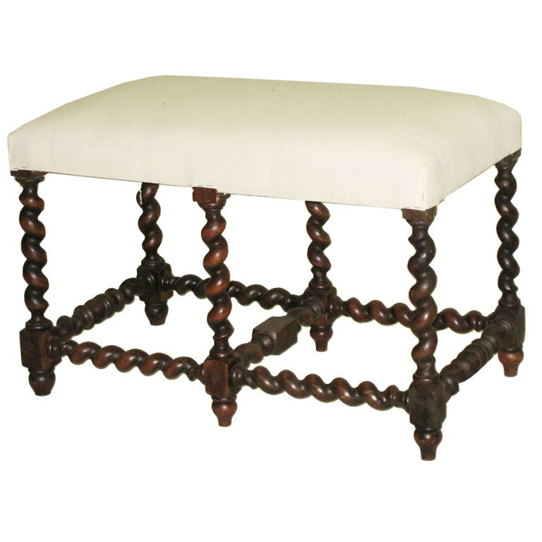 Barley Twist Cowhide Ottoman Coffee End Tables Big Legs