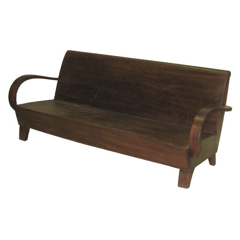 Art Deco Rare French Colonial Sofa Bench For
