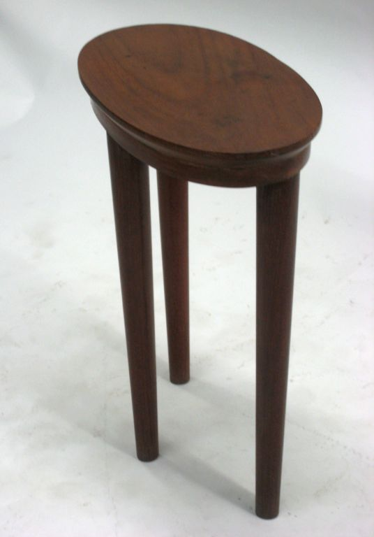 Rosewood Pair of French Colonial Solid Wood Side Tables / Consoles / Nightstands, 1930 For Sale