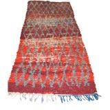 Vintage Moroccan Berber Tribal Rug or Runner in Geometric Pattern