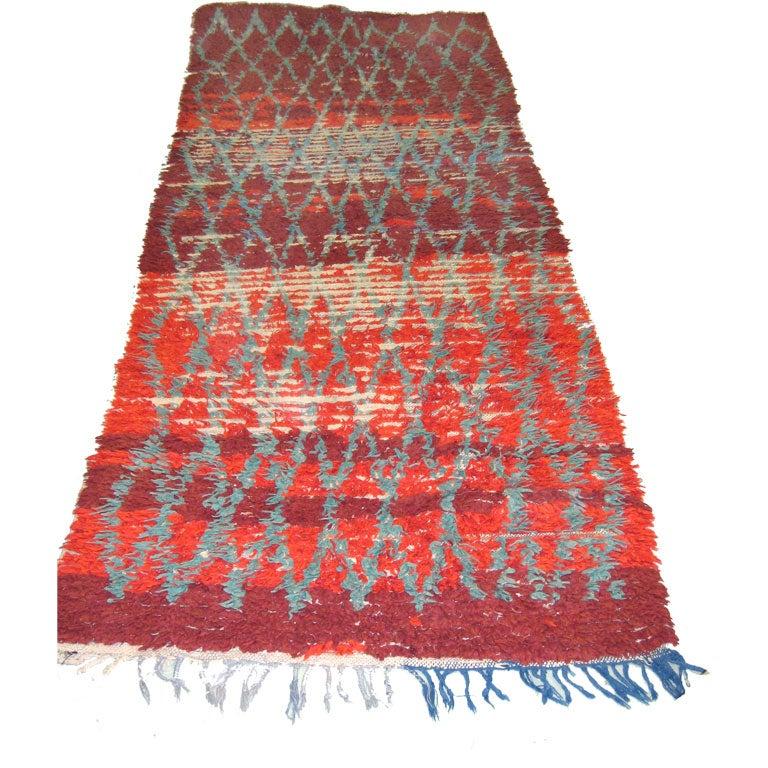 Vintage Moroccan Area Rug For Sale At 1stdibs: Vintage Moroccan Berber Tribal Rug Or Runner In Geometric