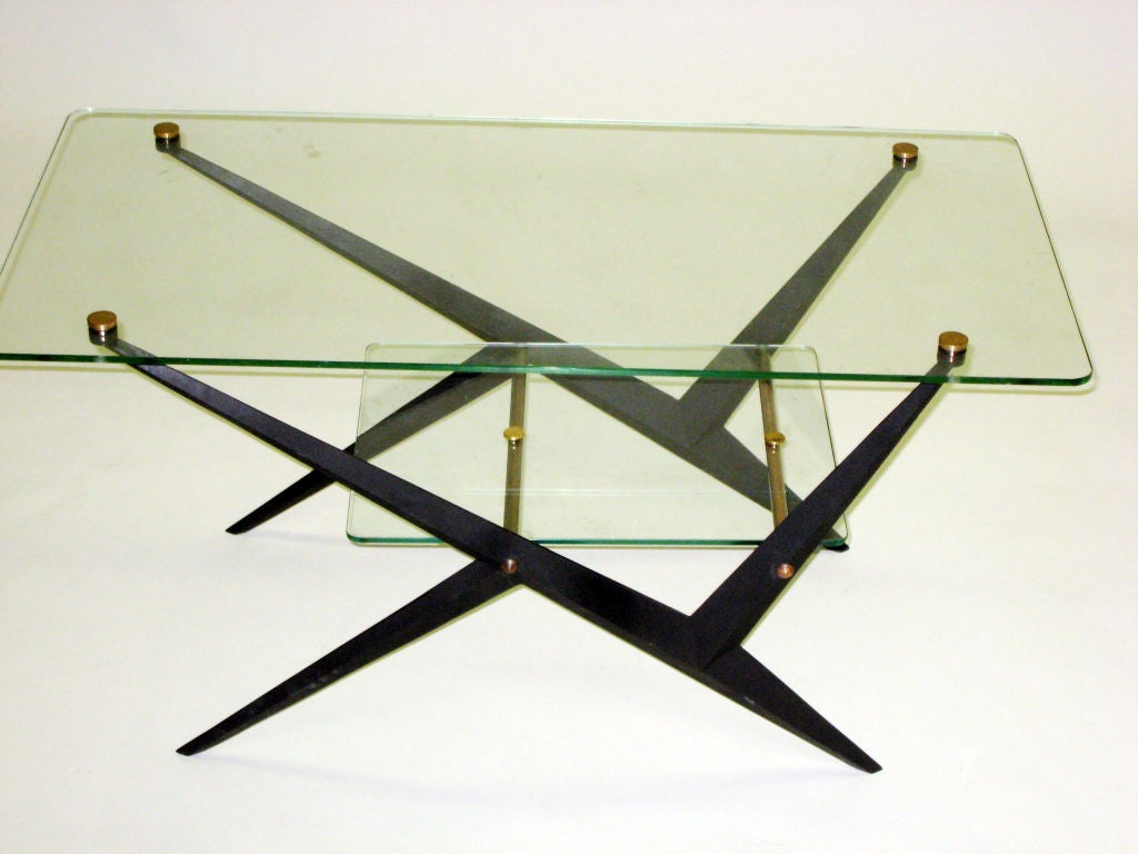 2 Italian Mid-Century Modern Coffee / Side Tables by Angelo Ostuni for O-Luce In Good Condition For Sale In New York, NY