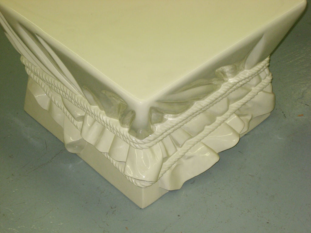 Mid-Century Modern French Surrealist Table or Bench by Alberto Pinto for Nobilis, Paris For Sale