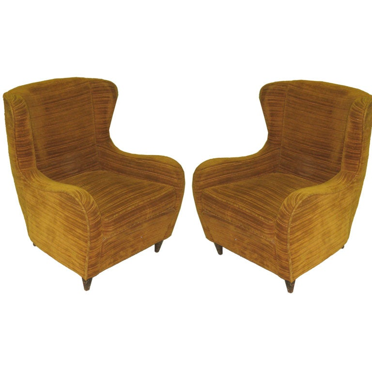 Pair Of Italian Bergere In The Manner Of Carlo Mollino At 1stdibs