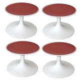Four Swedish Mid-Century Modern Stools or Side Tables by Broderna Johansons