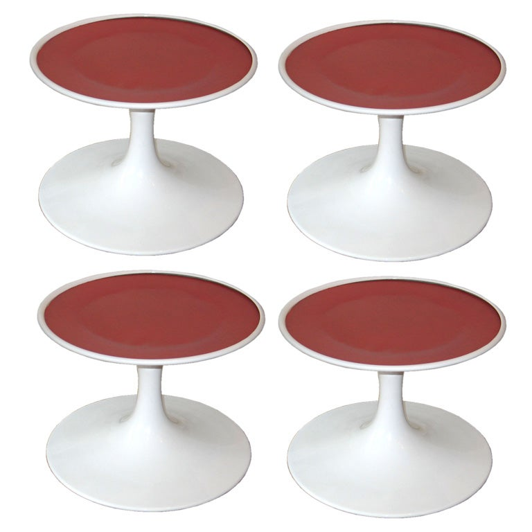 Four Swedish Mid-Century Modern Stools or Side Tables by Broderna Johansons 1