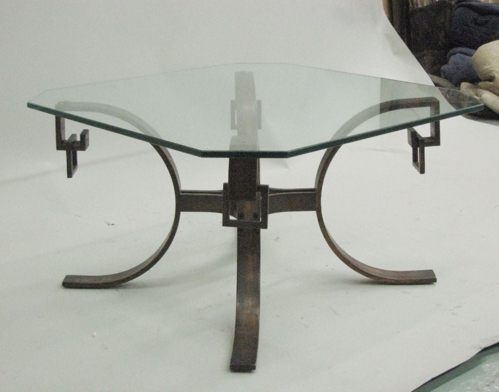 Mid-Century Modern French Modern Neoclassical Side Table or Cocktail Table Attributed to Ramsay For Sale