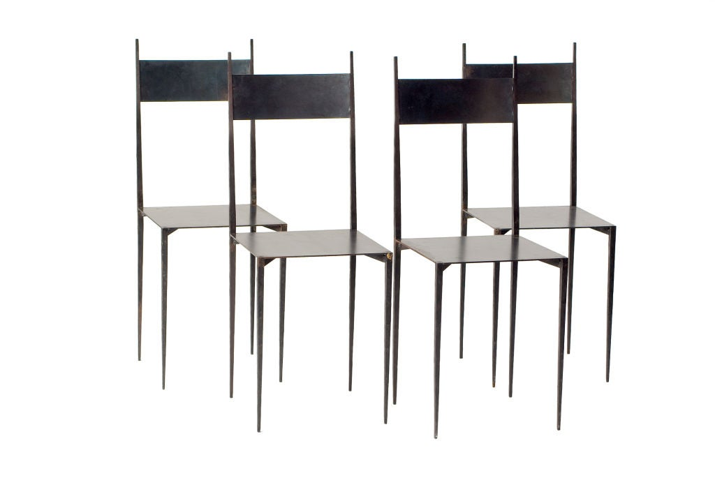jean michel wilmotte chairs at 1stdibs. Black Bedroom Furniture Sets. Home Design Ideas