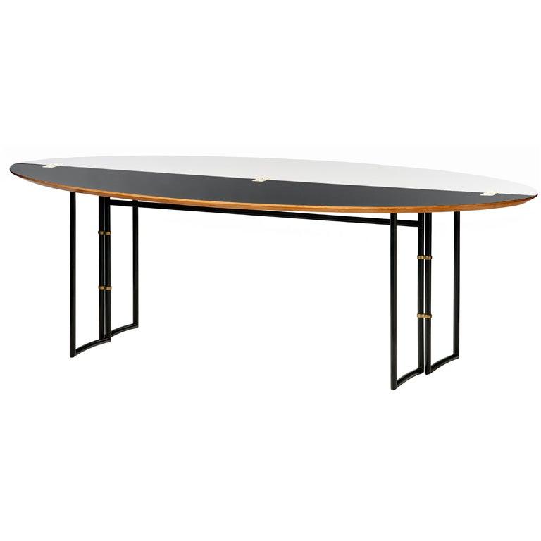 Janette laverri re noir and blanc console at 1stdibs - Table console noire ...