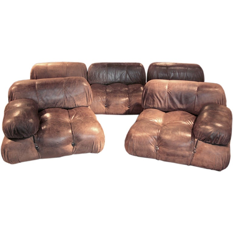 mario bellini leather camaleonda sofa at 1stdibs. Black Bedroom Furniture Sets. Home Design Ideas