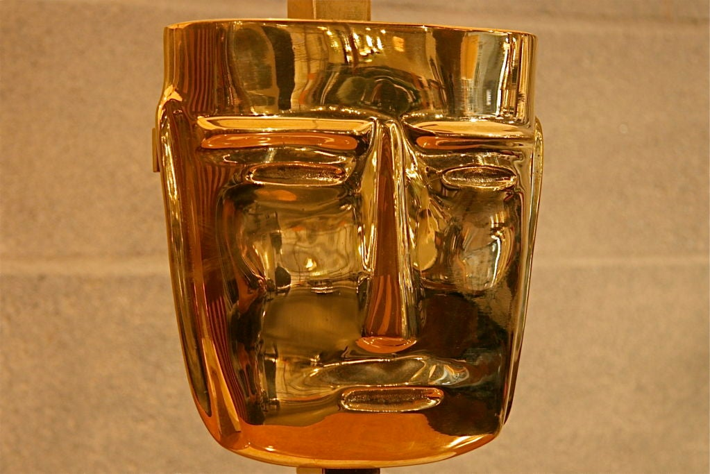 Eccola Mask Lamps In Excellent Condition For Sale In Los Angeles, CA