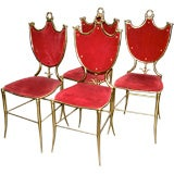 Italian 50s Brass Dining Chairs