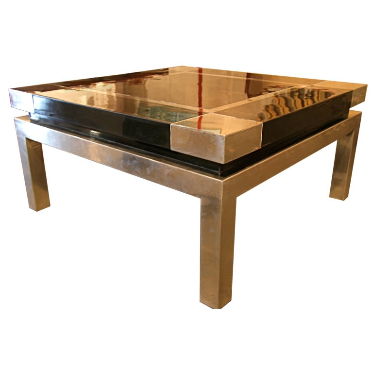 Italian 60s steel coffee table at 1stdibs for 60s coffee table