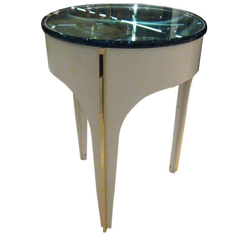 Ma+39u0027s Custom Ivory Magnifying Lens End Table 1