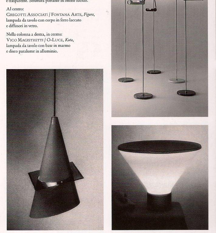 Fontana Arte Table Lamp Designed by Gregotti Associati For Sale 3