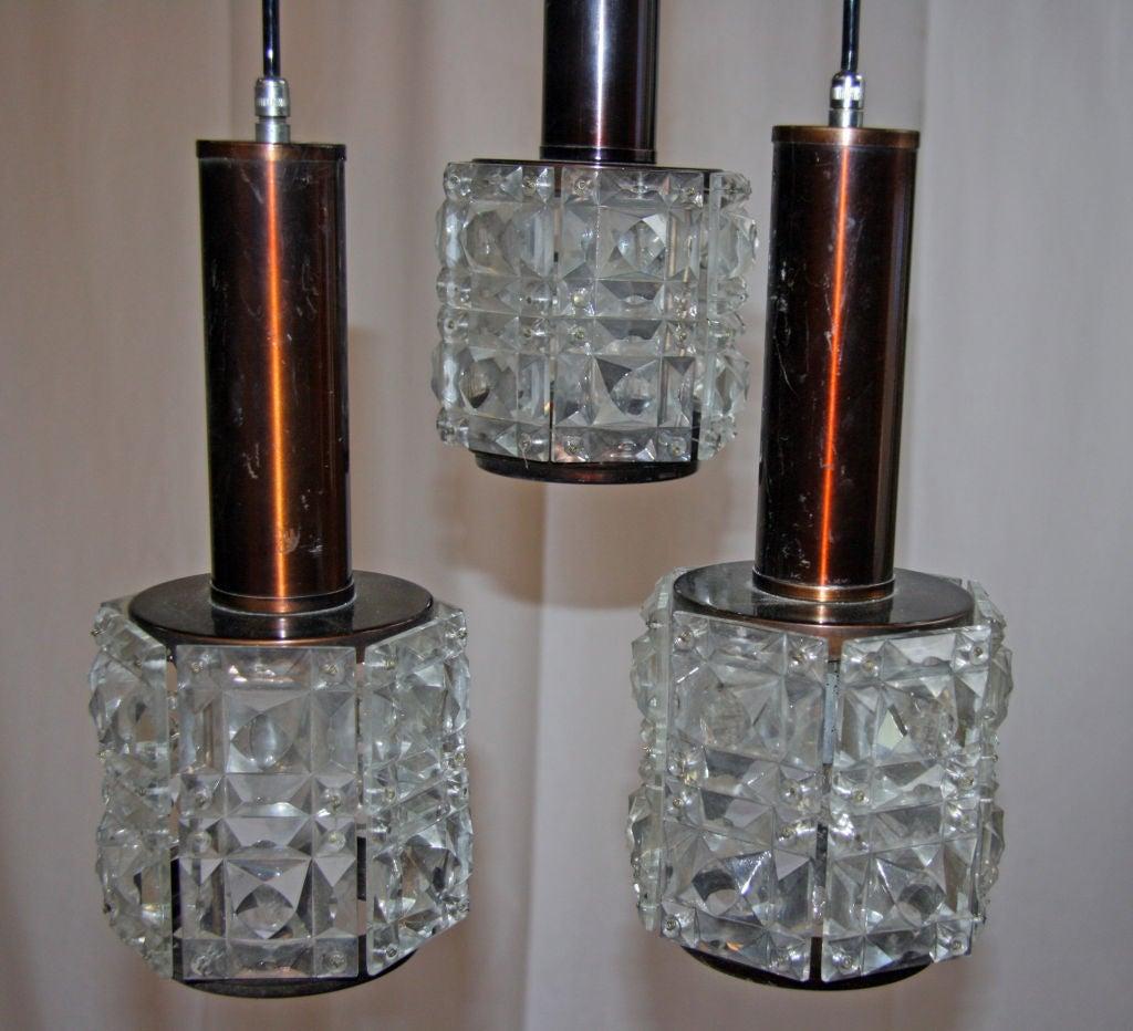 Italian Cut Glass Chandelier For Sale 1