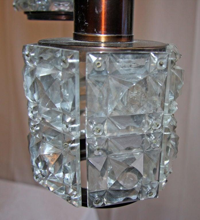 Italian Cut Glass Chandelier For Sale 2