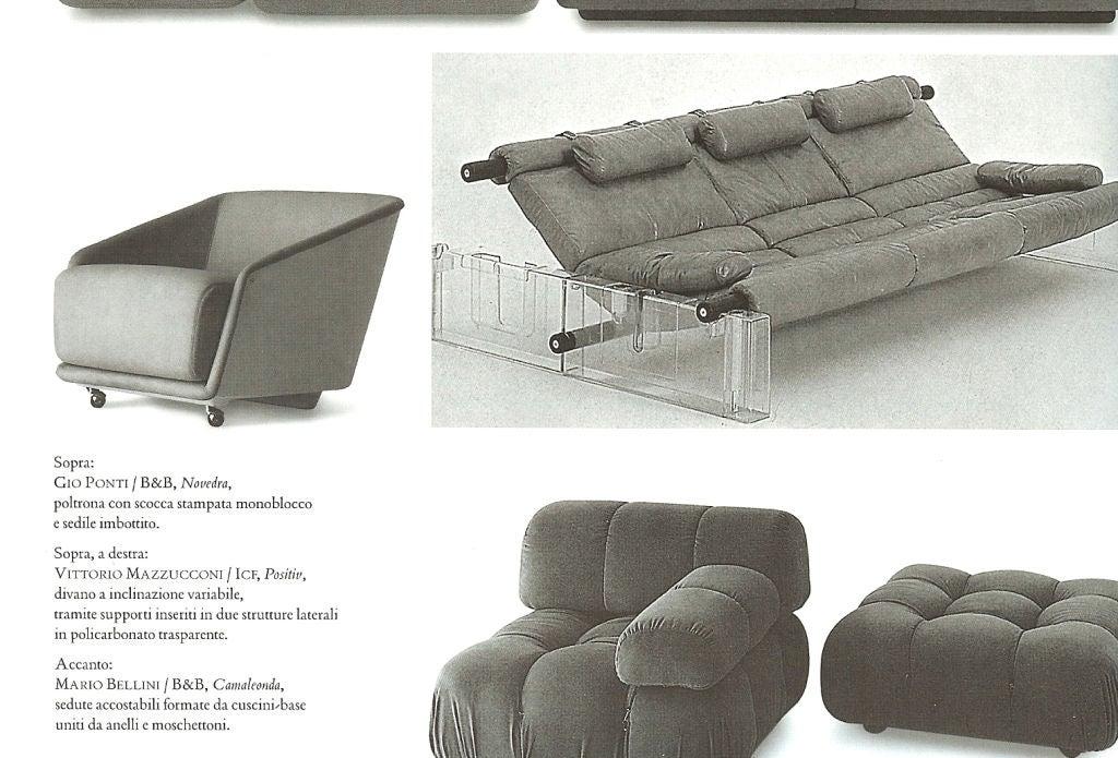 """Italian Vittorio Mazzucconi """"Positiv"""" Plexi and Leather Sofa For Sale"""